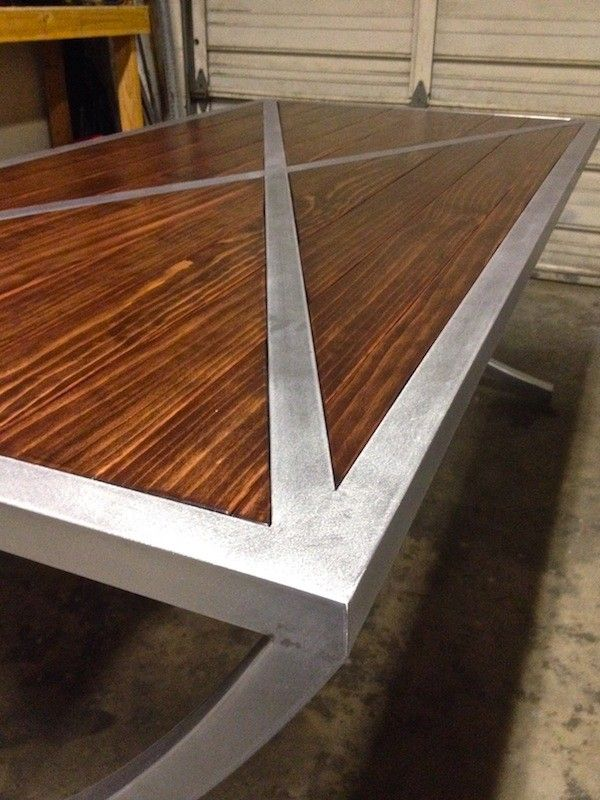 My custom crafted metal and wood tables and shelves - The Garage Journal  Board