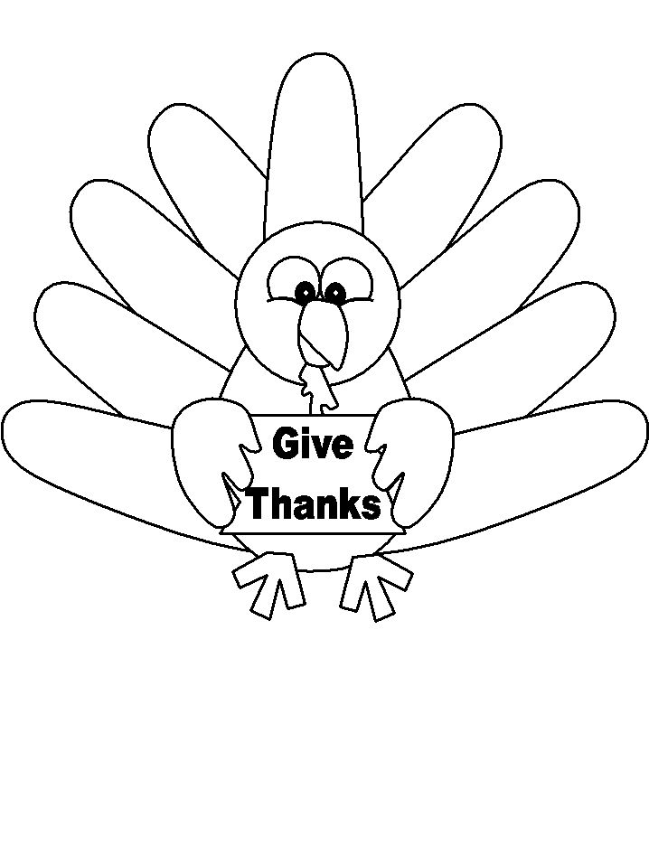 turkey coloring pages for toddlers | Turkey Coloring Pages - Coloringpages1001.com