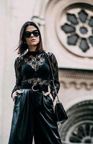 Sutiã bapho preto blusa renda outfit