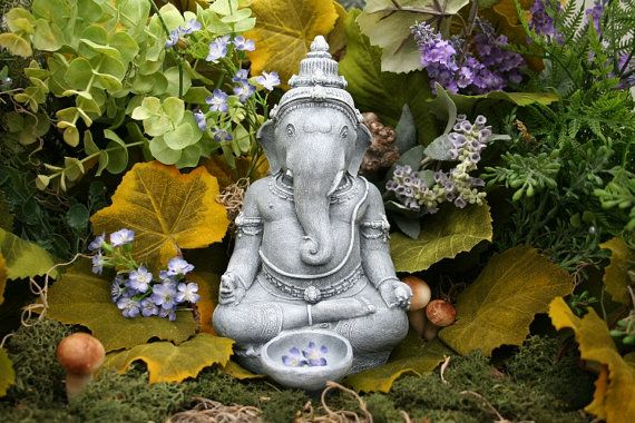 Zen Garden Statues | Beautiful Lord Ganesh Statue - Zen / Outdoor Garden Art / Ganesha