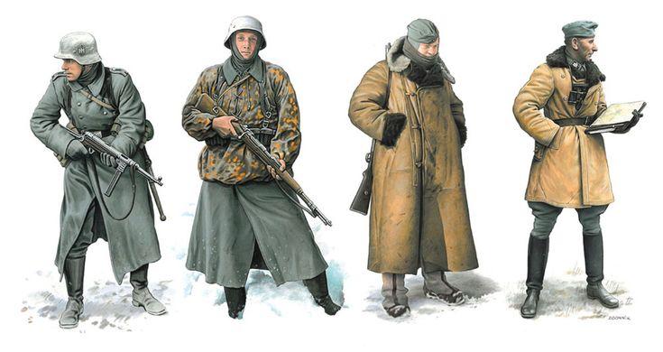 1/35 WW.II ドイツ軍 冬季装備兵士 タイフーン作戦 1941 (ドラゴン)