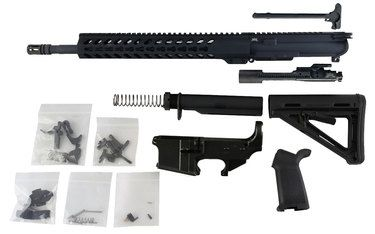 "300 Blackout (16"" Barrel & Keymod Handguard) AR 15 Rifle Kit with 80% Lower Fire/Safe Marked"