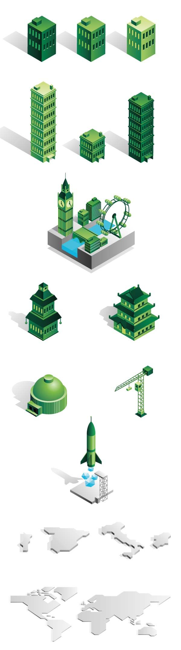 CBRE Animated Infographics - Isometric Objects
