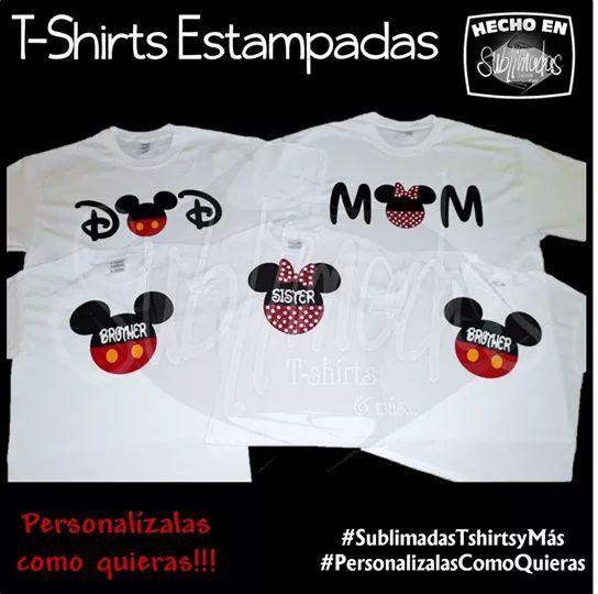 Playeras Estampadas en Vinil - Familia Mickey & Minnie ...