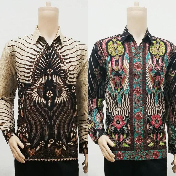 Baju Batik Lengan Panjang Pria Berpola Batik Bagoes Solo