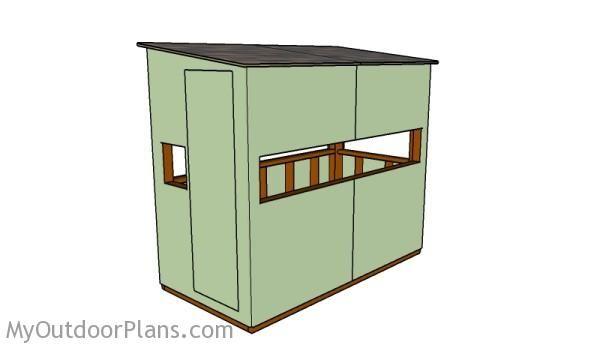 Deer Box Stand Plans | Free Outdoor Plans - DIY Shed, Wooden Playhouse, Bbq, Woodworking Projects