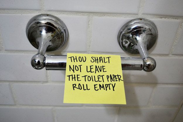 Commandment I: | 17 Roommate Commandments To Abide By