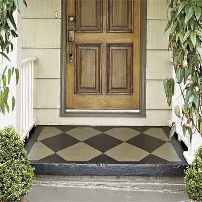 Brush on a welcome mat: fun way to have your front stoop