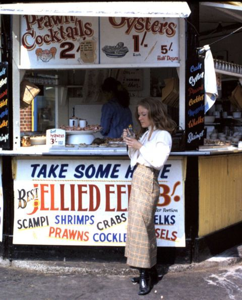 "Take Some Here ""Best Jellied Eels""    ( The English seaside in the late 1960s )
