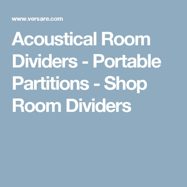 Acoustical Room Dividers - Portable Partitions - Shop Room Dividers