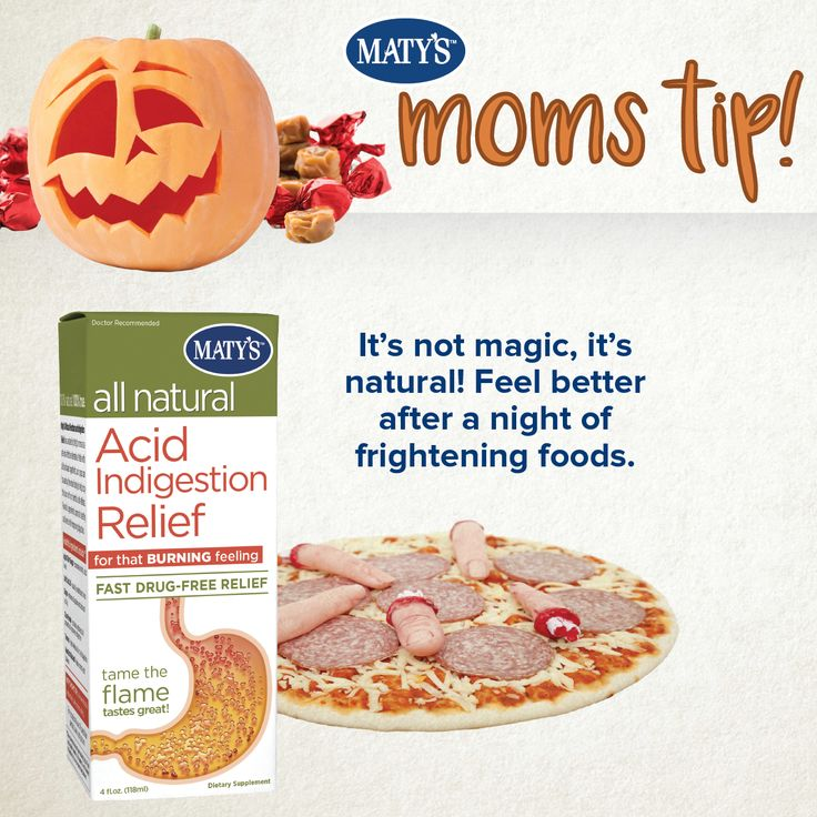 Halloween Tip: Did you know you can get rid of acid indigestion, naturally? #lovematys