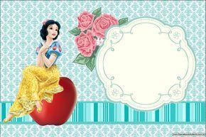 Branca de Neve Nova – Kit Completo com molduras para convites, rótulos para…