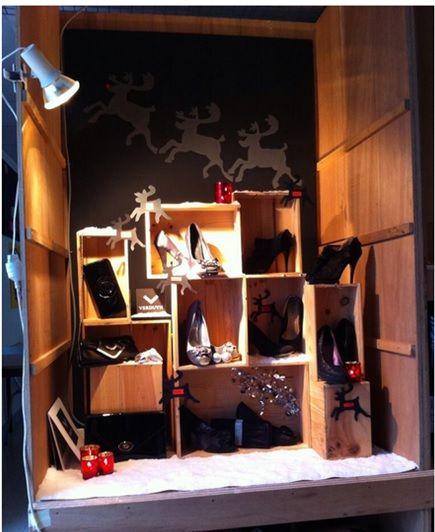 kerstetalage thema schoenen projectweek december '13