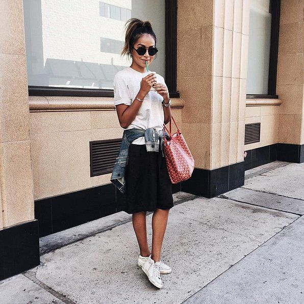 Comment Porter un Tshirt Blanc de Façon Chic | POPSUGAR Fashion France