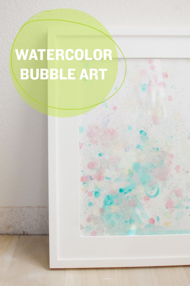 mycakies: watercolor bubble art. Fun for baby when he gets a bit older!