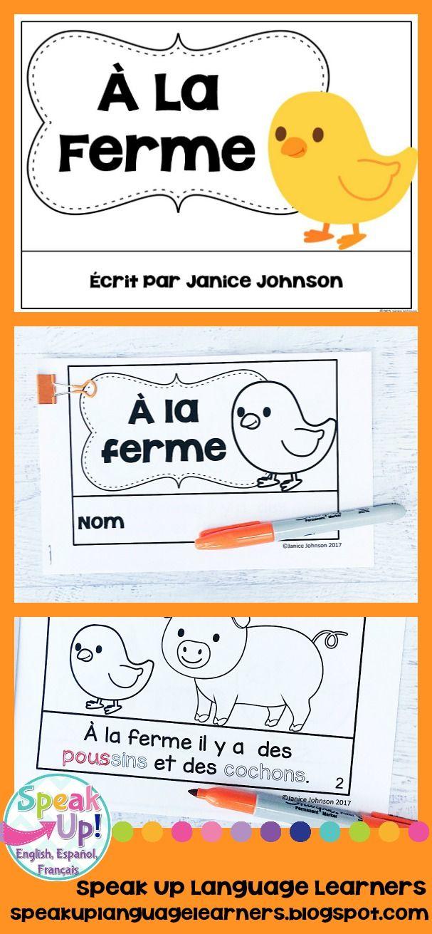 À la ferme French Farm Animal Reader {les animaux en français}