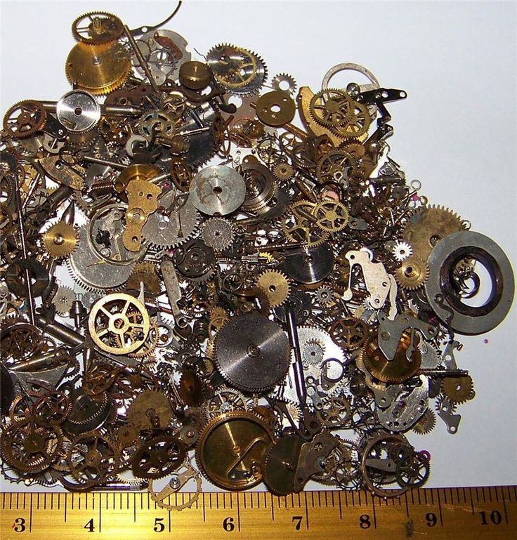 FREE SHIP 15g Gears Wheels Steampunk Old Watch Parts Steam Punk Lots of Pieces  #variety