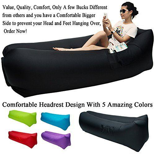 great home inflatable sofa air sleeping bag beach lounge chair bean bag air hammock sofa couch beach hammock laybag lamzac kaisr with comfortable headrest