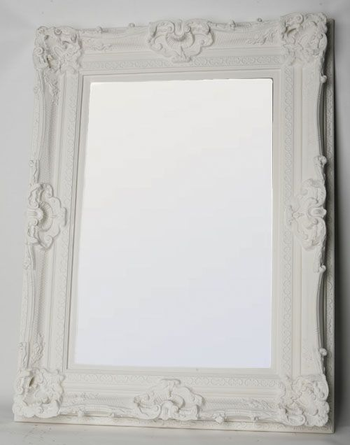 Le Louvre Ornate Mirror Ivory
