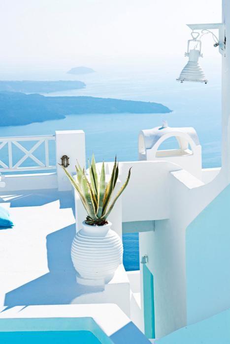 Santorini, Greece. So pure and crystal clean!