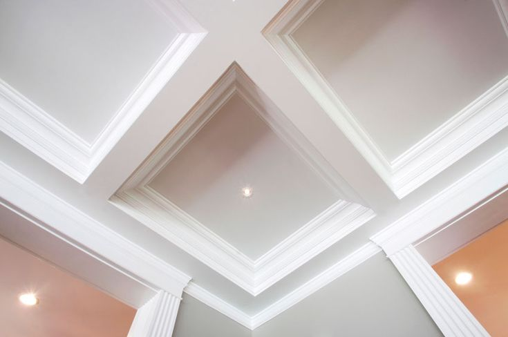 Tiltoncoffered designs don 39 t stop at the ceiling we also for Coffered cathedral ceiling
