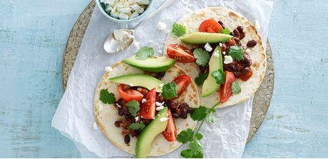 Take a look at this recipe (Black Bean and Tofu Tacos)
