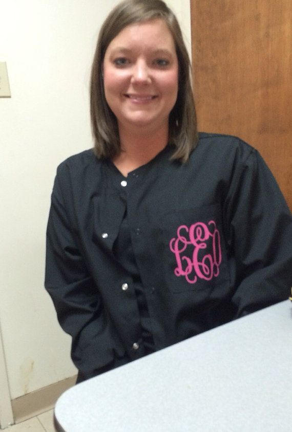 Healthcare scrub jacket, Gifts for Nurses, personalized workwear. Monogrammed jacket, Mother's Day gifts, friends birthday gift.