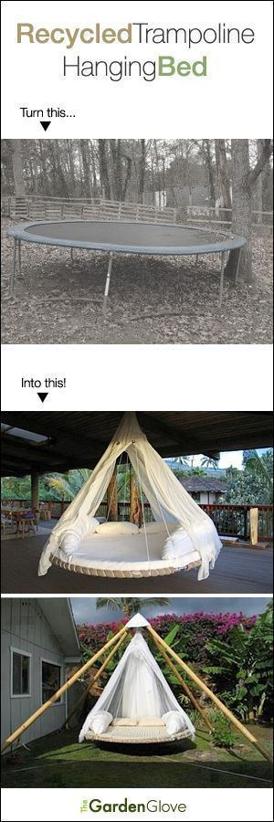 Dieses Trampolin gedrehte Hängebett Recycling DIY ist so GENIUS! Ich will das!