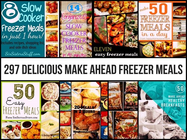 297 Delicious Make Ahead  Freezer Meals   >   There certainly is plenty to choose from in these offerings. Good thing, too...I'm picky about my choices for dinner...