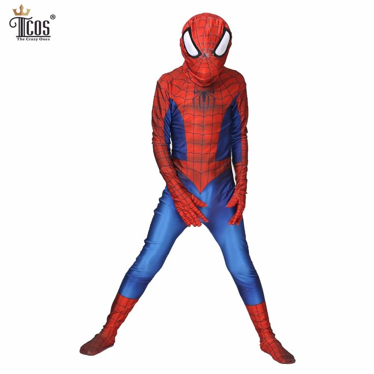==> [Free Shipping] Buy Best (2pieces/lot) Amazing Spiderman Cosplay Costume Spandex Lycra Zentai Suit Kid Spider-Man Party Bodysuit Halloween Costumes Online with LOWEST Price | 32813161844