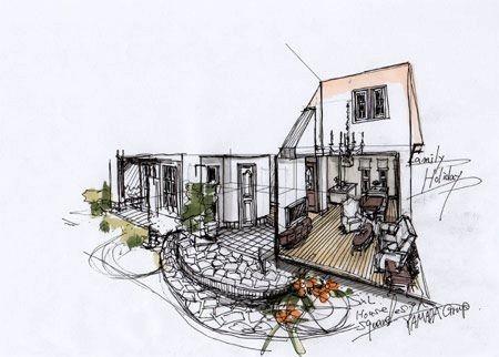 施工例(内観) - 手描きの建築パース画で住宅デザインをご提案する、住宅パース制作会社|レッドハウスデザインラボ