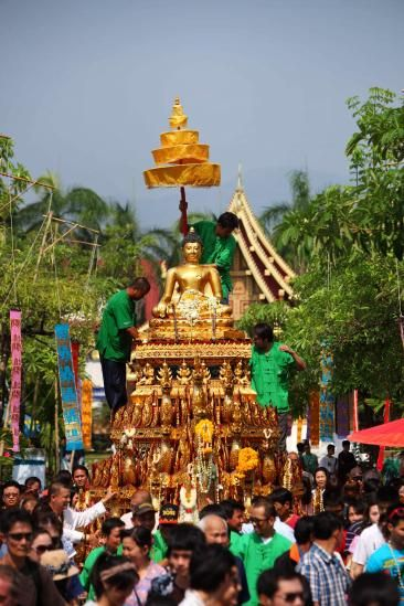 Songkran: Rooted in Buddhist tradition, the purification ritual of sprinkling statues of the Buddha with water has evolved into a three-day countrywide water fight.