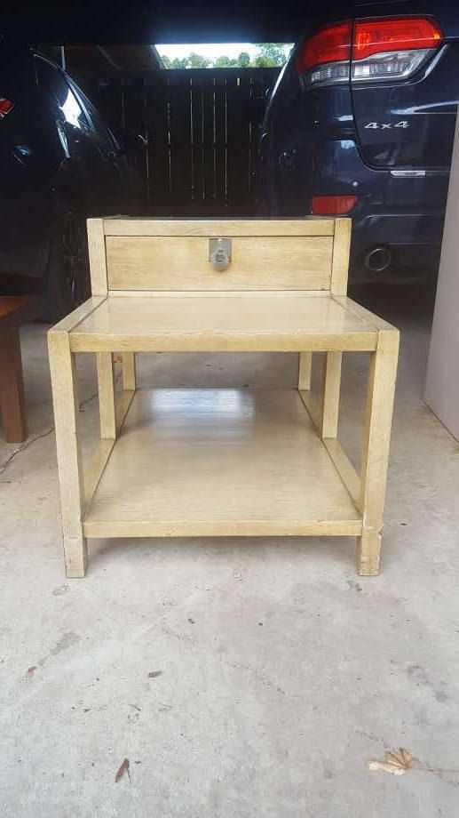 Vintage  Mid-Century Modern American of Martinsville Side Table / End Table / MCM Table / 1-Drawer / Blonde Wood