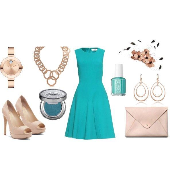 """Vestido Azul Turquesa 04"" by detallelogia on Polyvore"