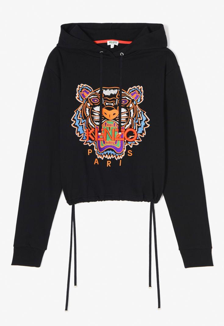 À KenzoKenzoHooded Sweatshirt Capuche Tigre Noir Femme 0wOvmnN8