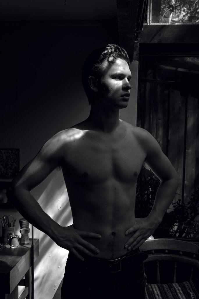 Ansel Elgort Goes Shirtless For Hero Magazine