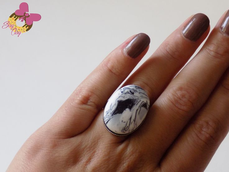 Polymer Clay Ring by Say Clay