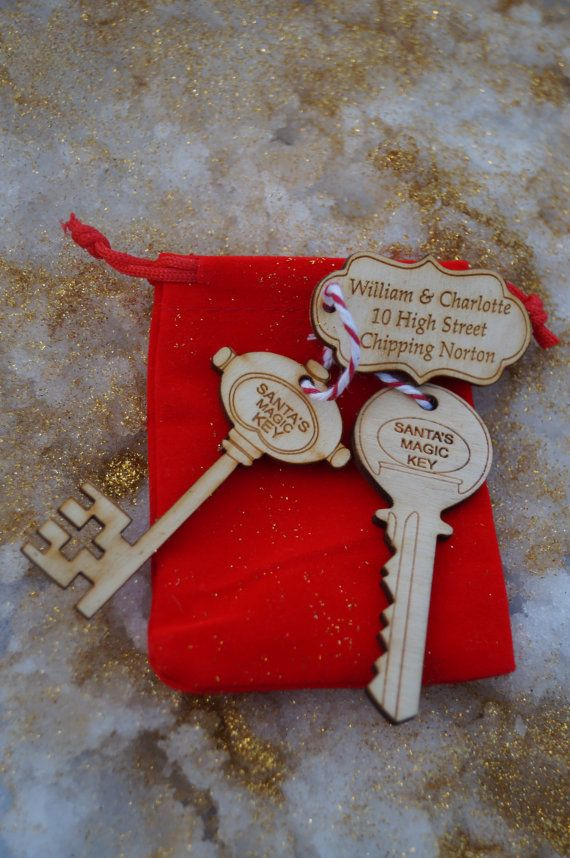 Santa's magic Key with Personalised Tag  father christmas