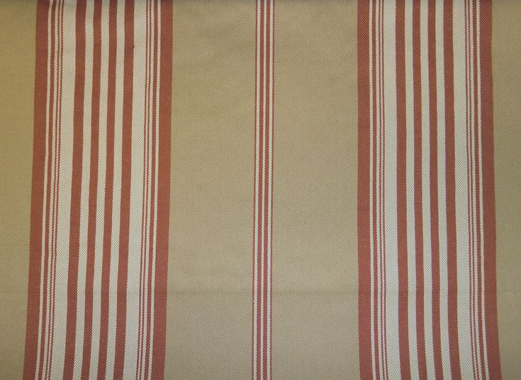 ticking stripe upholstery fabric | Home > Fabric > Lila Ticking Stripe Red