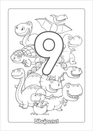 Imprimir Dibujo Del Número 9 Para Colorear Preescolar