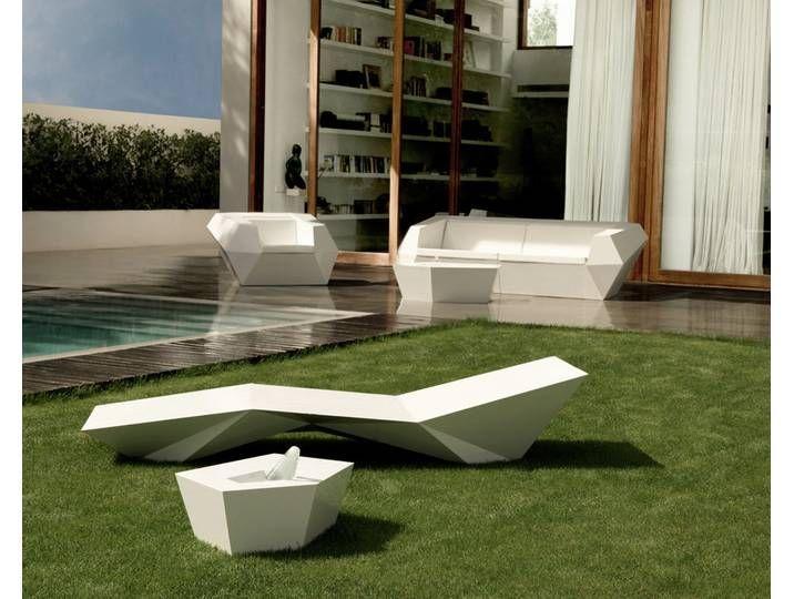 Bain De Soleil Vondom Faz Verni Balancelle Salon De Jardin
