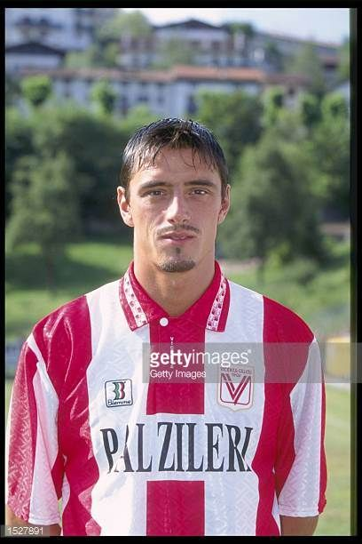 A portrait of Maurizio Rossi of Vicenza taken during the club photocall Mandatory Credit Allsport UK