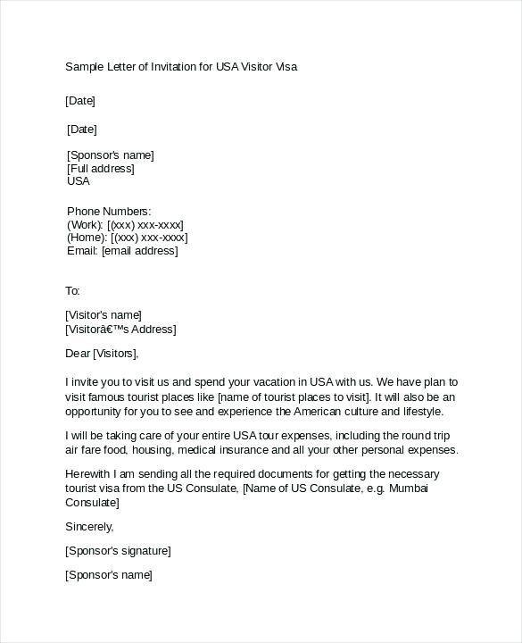 sample of invitation letter for korean