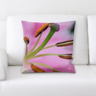East Urban Home Throw Pillow Floral Throw Pillows Throw Pillows Pillows
