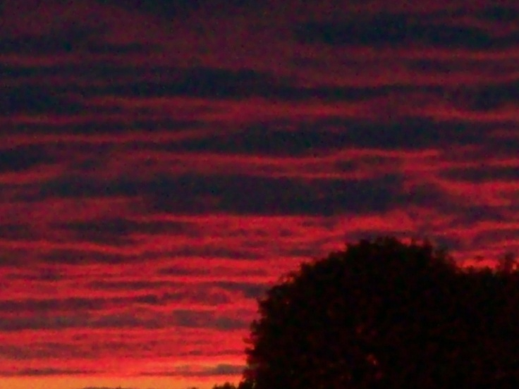 Red sky at night!