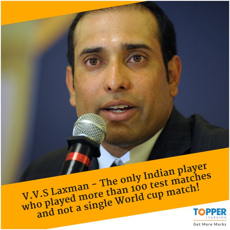 #DidYouKnow V.V.S Laxman - The only Indian player who played more than 100 test matches and not a single World cup match! #WorldCup | #Cricket | #India | #ICC  Hit 'Like' and 'Repin' for more posts!