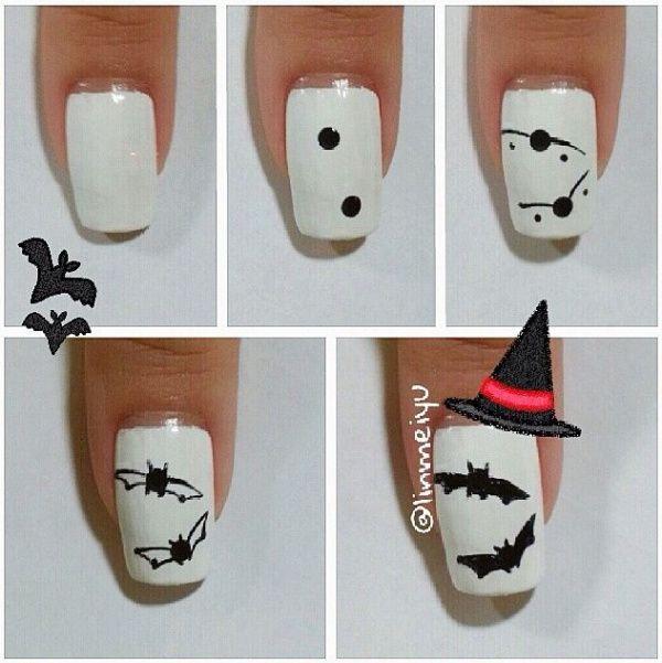 15 Great Lessons You Can Learn From Halloween Nails Bats Decoracion Unas Halloween Unas De Halloween Unas De Gel