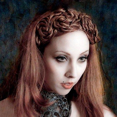 wedding rose crown hair headband wig bellydance hair accessory piece