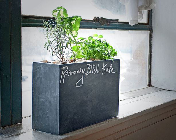 Love this new solar #hydroponic windowsill planter with chalkboard enclosure! #gardening