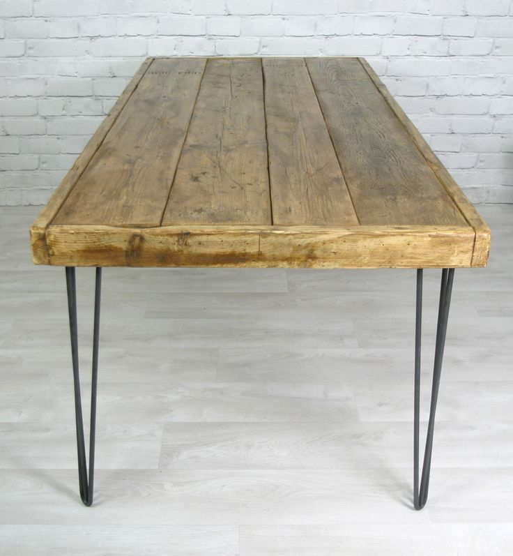 Hairpin Leg Vintage Industrial Dining Table 190 X 90cm
